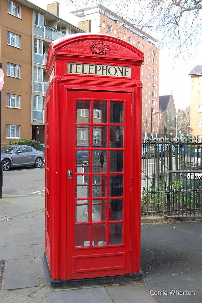 London Telephone Box by Corrie Wharton