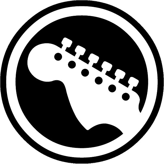 Rock Band Guitar Symbol Posters By Scammell Design Redbubble