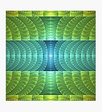 Green and Aqua Fractal Pattern Photographic Print