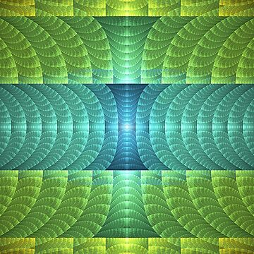 Green and Aqua Fractal Pattern by lyle58