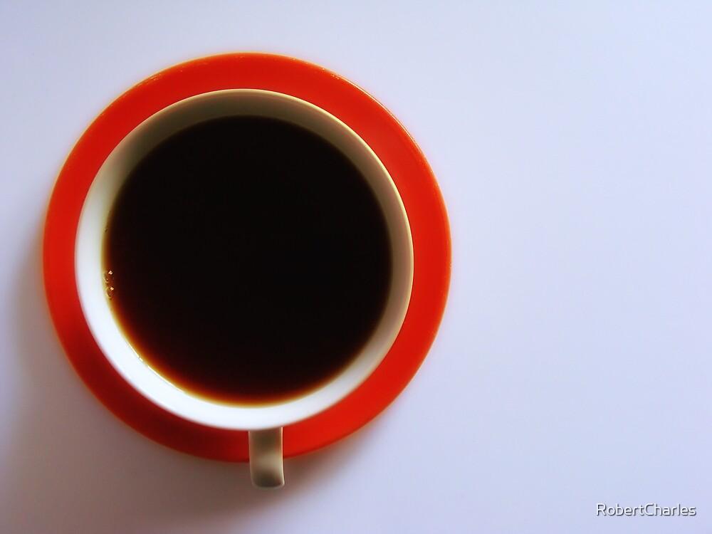 Black Coffee - Orange Plate by RobertCharles