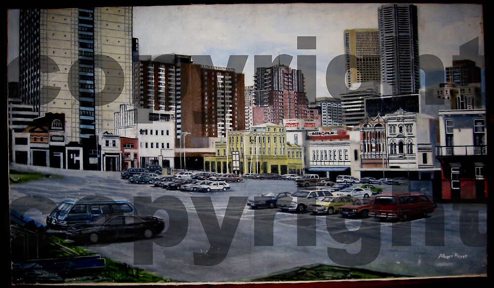 Painting of the QV site in the city in 1999 (Melbourne)  by AlbertPayet