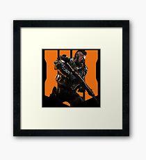 Black Ops 4 - Soldier and Logo Framed Print