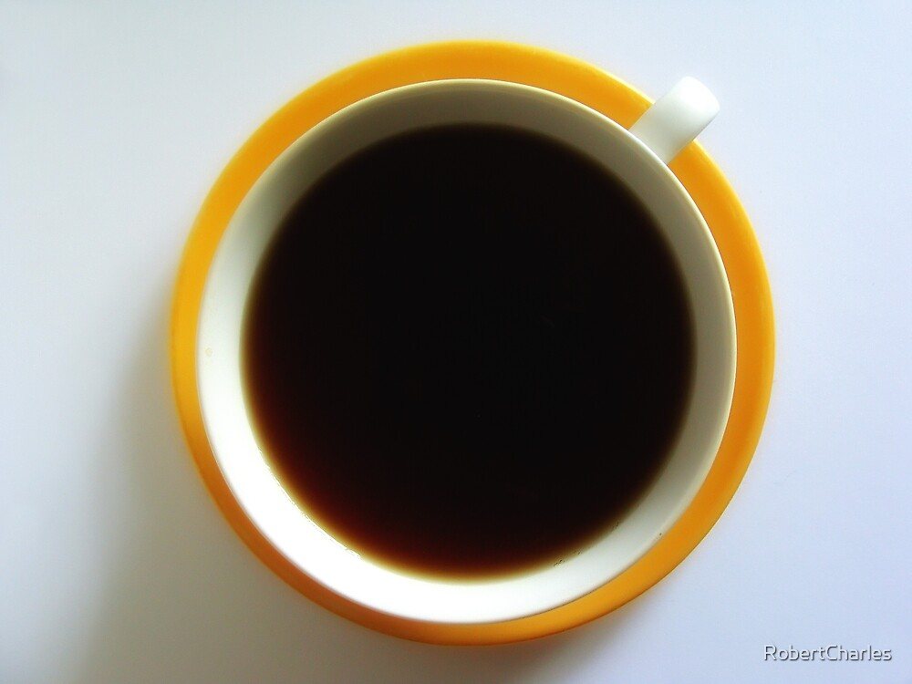 Black Coffee - Yellow Plate by RobertCharles