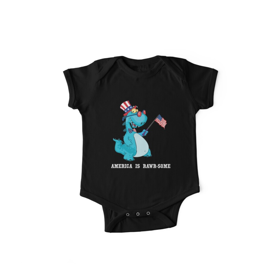 6b7e6312e American Flag, Baby Dinosaur, T Rex T Shirt - 4th July Gifts, America is  awesome