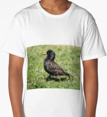 Starling catching insects Long T-Shirt