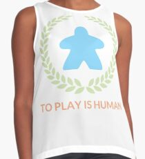 To Play Is Human (Icon TItle) Contrast Tank