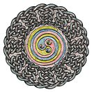 Celtic Knotwork Spiral by Carrie Dennison