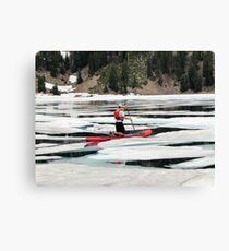 Red paddleboard on Lake Helen Canvas Print