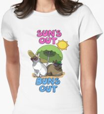 Sun's Out Buns Out Women's Fitted T-Shirt