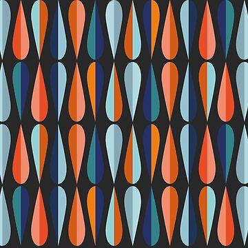 Mid-Century Modern Teardrop Pattern by callmehiwatt