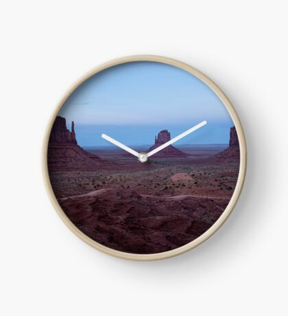 Twilight At Monument Valley Clock