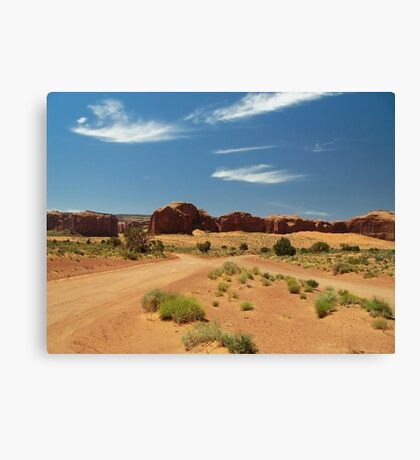 Cross Roads in Monument Valley Canvas Print