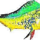 Mahi Mahi Watercolor Dolphin fish by Statepallets