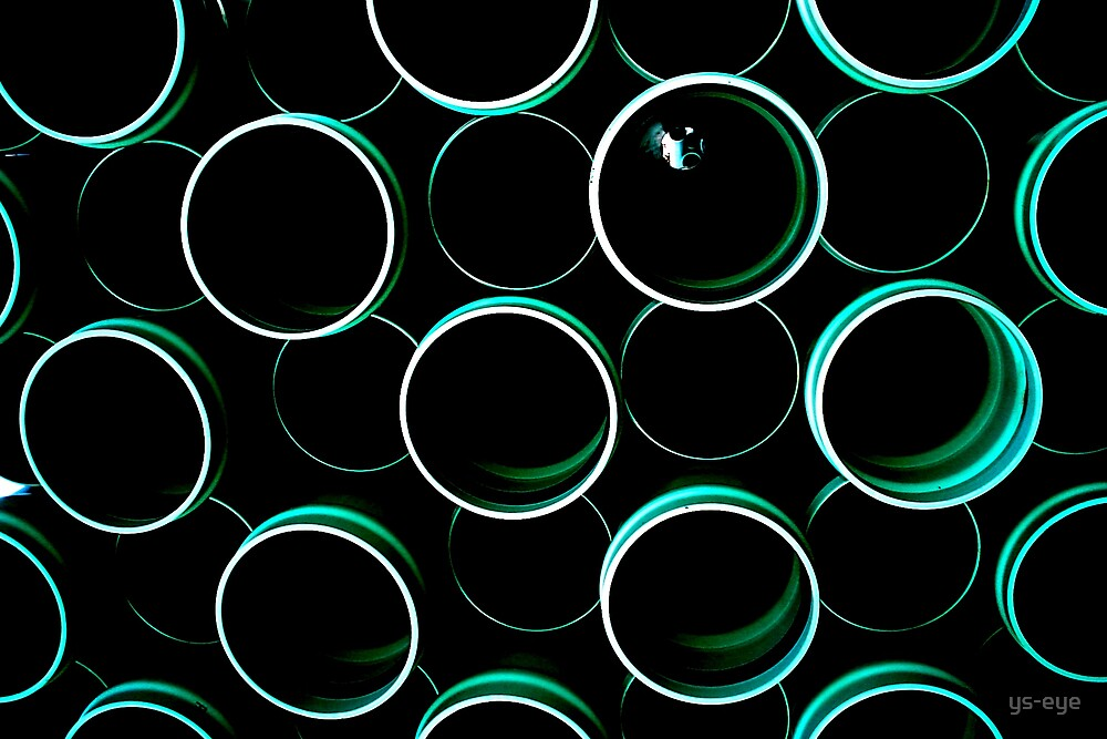 Teal Tubes fade to Black by ys-eye