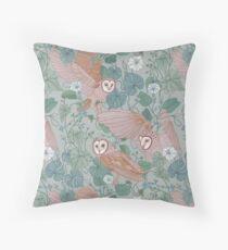 Pink barn owls Floor Pillow