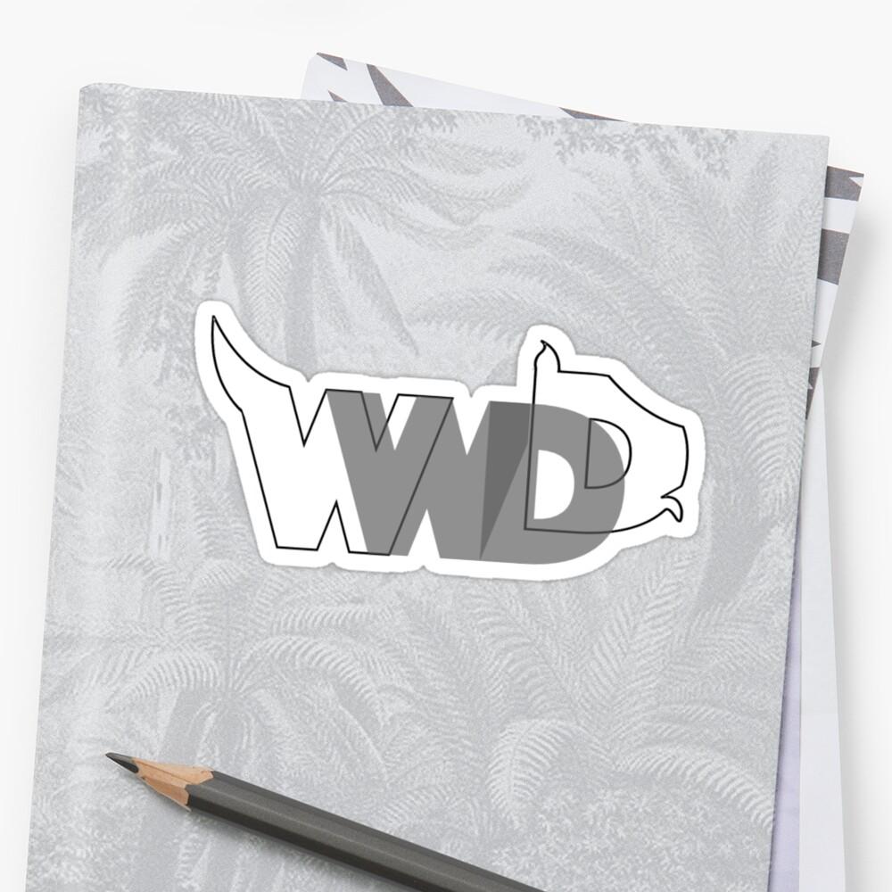 WWDD? logo Sticker