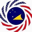 Tokelauan American Multinational Patriot Flag Series by Carbon-Fibre Media