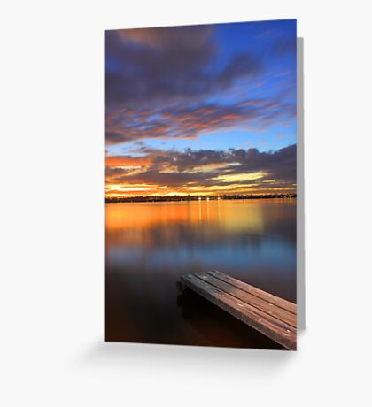 Swan River Jetty At Sunset  Greeting Card