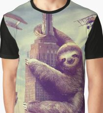 Sloth climbing the empire state building Graphic T-Shirt