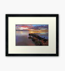 Swan River Sunset  Framed Print
