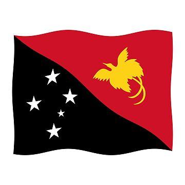 Papua New Guinea flag waving by stuwdamdorp