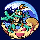 Surfing Pizza by harebrained