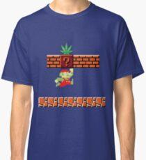 8-bit Retro Mario Marijuana Classic T-Shirt
