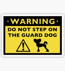 Humorous Chinese Crested Guard Dog Warning Sticker