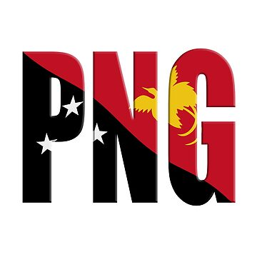Papua New Guinea PNG flag overlay by stuwdamdorp