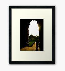 Sari Stillness Framed Print