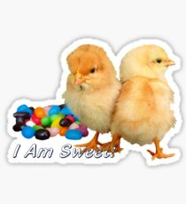 I Am Sweet! - Chicks & Jelly Beans Sticker
