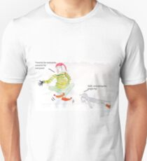 A Christmas elf and a sarcastic penguin Unisex T-Shirt