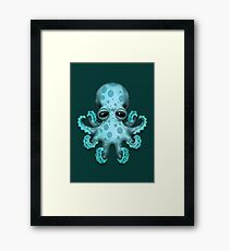 Cute Blue Baby Octopus Framed Print