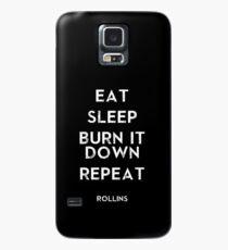eat sleep burn repeat Case/Skin for Samsung Galaxy