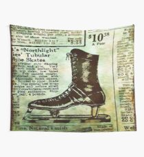 Vintage Ice Skates Rusty Ad-roaring 20's Wall Tapestry