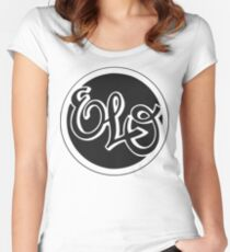 E.L.O. BLACK Women's Fitted Scoop T-Shirt