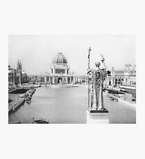 Lámina fotográfica Feria Mundial de Chicago - The White City 1893