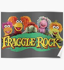 Fraggle Rock Fraggles 80s Muppets Cartoon Poster