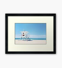 lifeguard tower Carlsbad 35 Framed Print