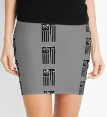 Fireman Flag Tee Shirt With Fireman's Crest Honor The Badge Mini Skirt