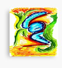 Colorful Abstract by FreddiJr Canvas Print