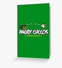 Angry Cuccos Greeting Card