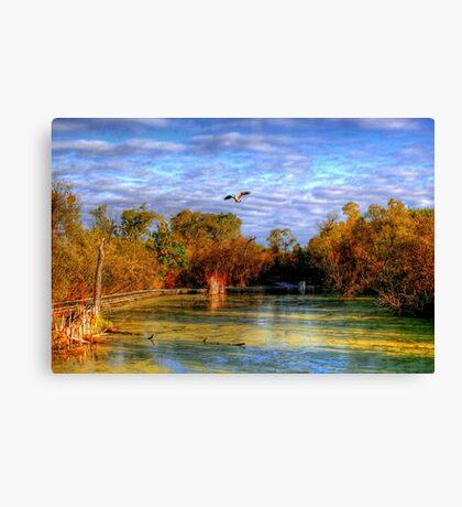 Autumn on the Boardwalk Canvas Print