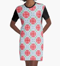 Victorian style roses Graphic T-Shirt Dress