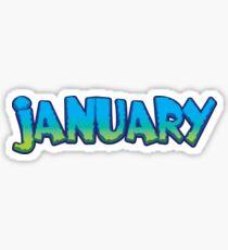 January Sticker