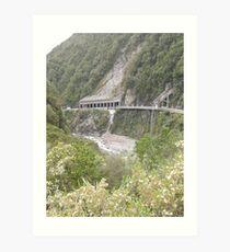 The Otira Gorge Viaduct Art Print