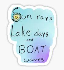 Sunrays Sticker