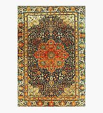 Antique Persian Mohtashem Kashan Rug Photographic Print