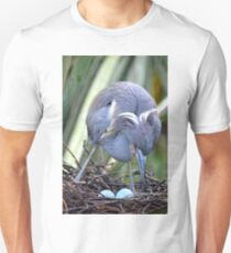 Heron Strengthening Her Nest Unisex T-Shirt